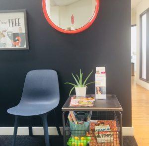 Salle d'attente – Clinique privée de psychologie Serespro a Montréal